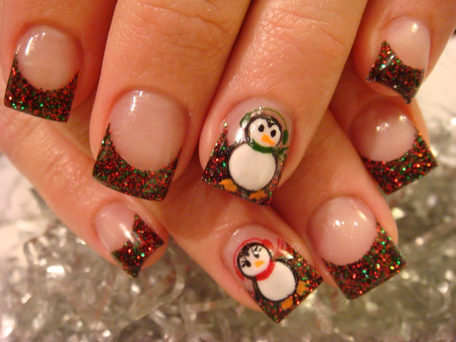 minus the penguins | Nail\'d It | Pinterest | Penguins, French nails ...