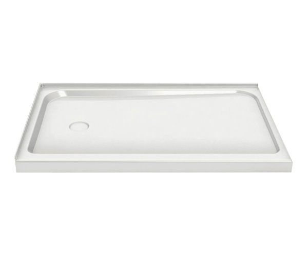 Maax 36 25 In Rectangular Corner Shower Base With Right Drain