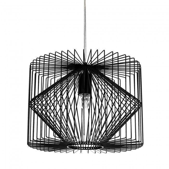 Lux Pro Deckenleuchte Schwarz Metall Pendelleuchte Gitter Esszimmer