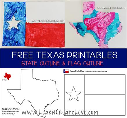Texas Printables Flag State Outline Texas Theme Texas Crafts History Classroom