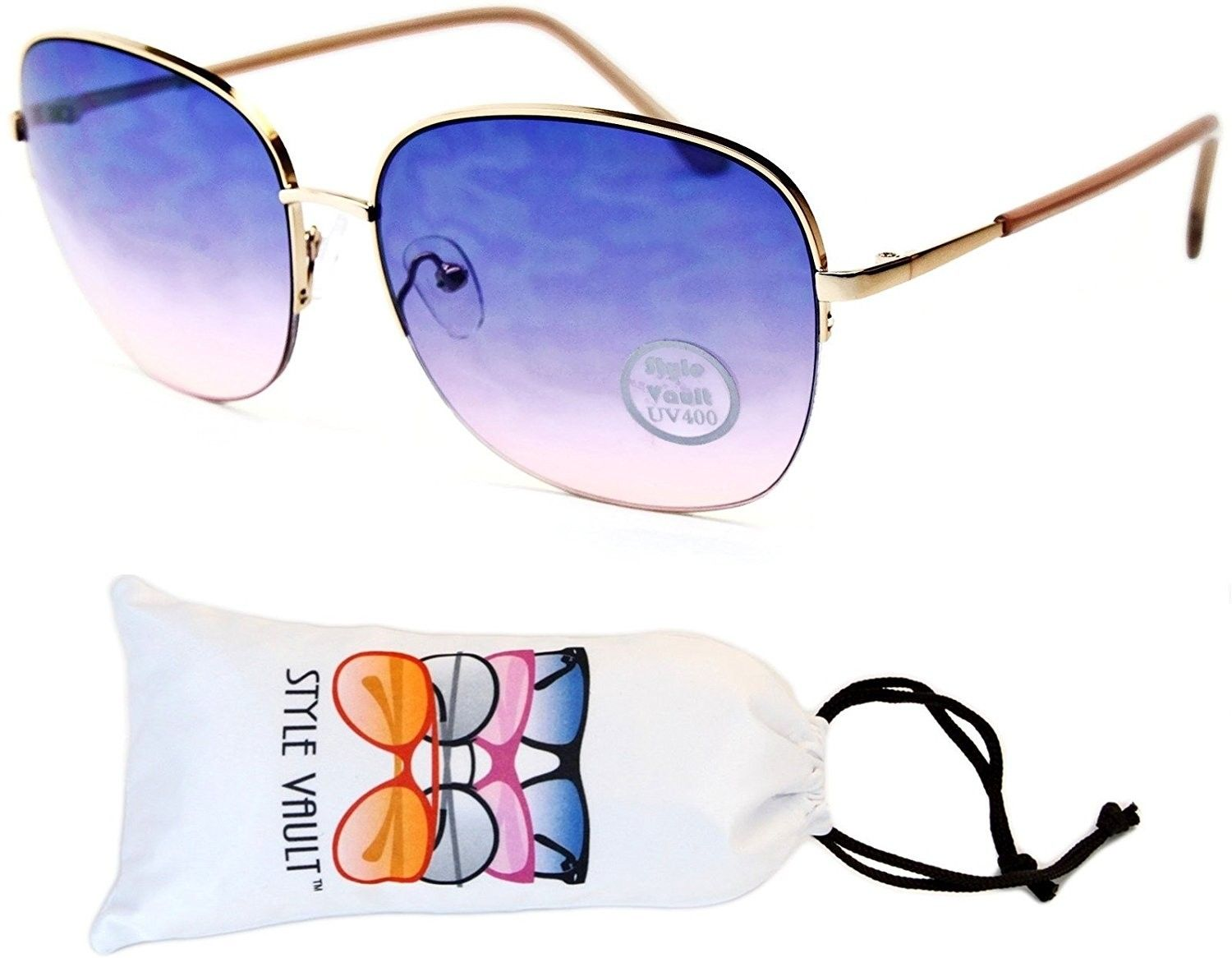 c1dde163ed Wm551-vp Metal Butterfly Unique Sunglasses - F3121r Gold Beige-bluish Pink  - CZ12J3C21RR