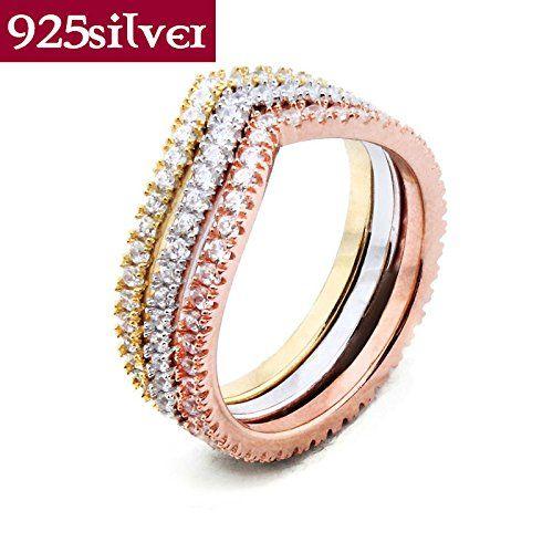 M-Jiw Beautiful Design 925 Sterling Silver Ring 3 in 1 Ring Best 18k rose gold finger rings JR005 18k vintage diamond rings engagement white gold M-Jiw http://www.amazon.com/dp/B00Y5DAVCK/ref=cm_sw_r_pi_dp_0nexwb118Z7X1