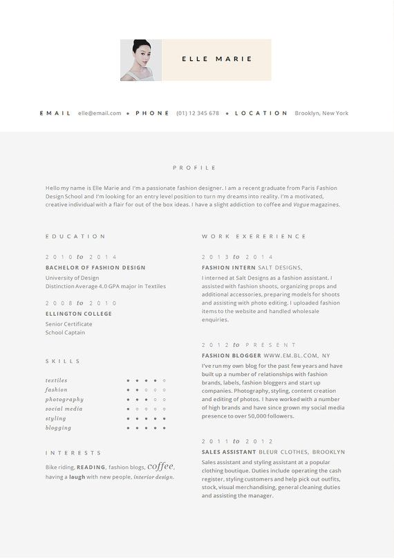 modern cv template and cover letter head design in by