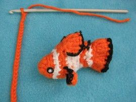 Finding Nemo, he features in my very first crochet booklet, but is really hard to make! $$10,00