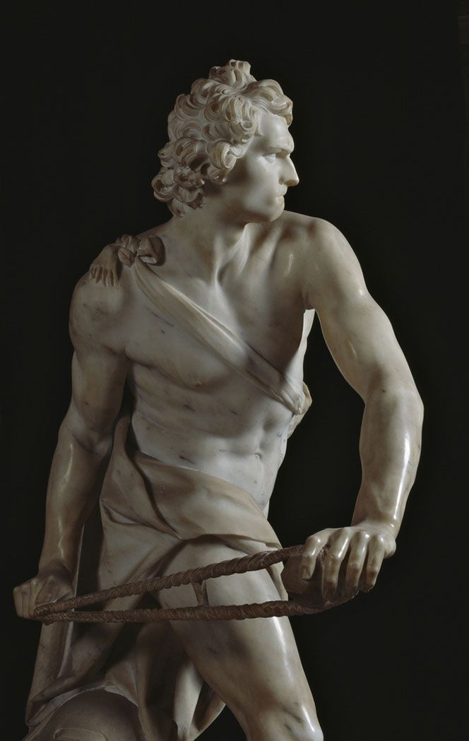 """David"", Gian Lorenzo Bernini. www.italianways.com/david-and-berninis-mirror/"
