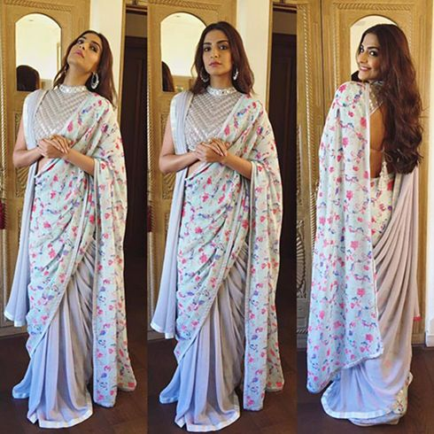 256b67569e Double Saree Style – Find Out Ways To Wear A Saree In Modern Style |  Fashion Tips - Indiarush