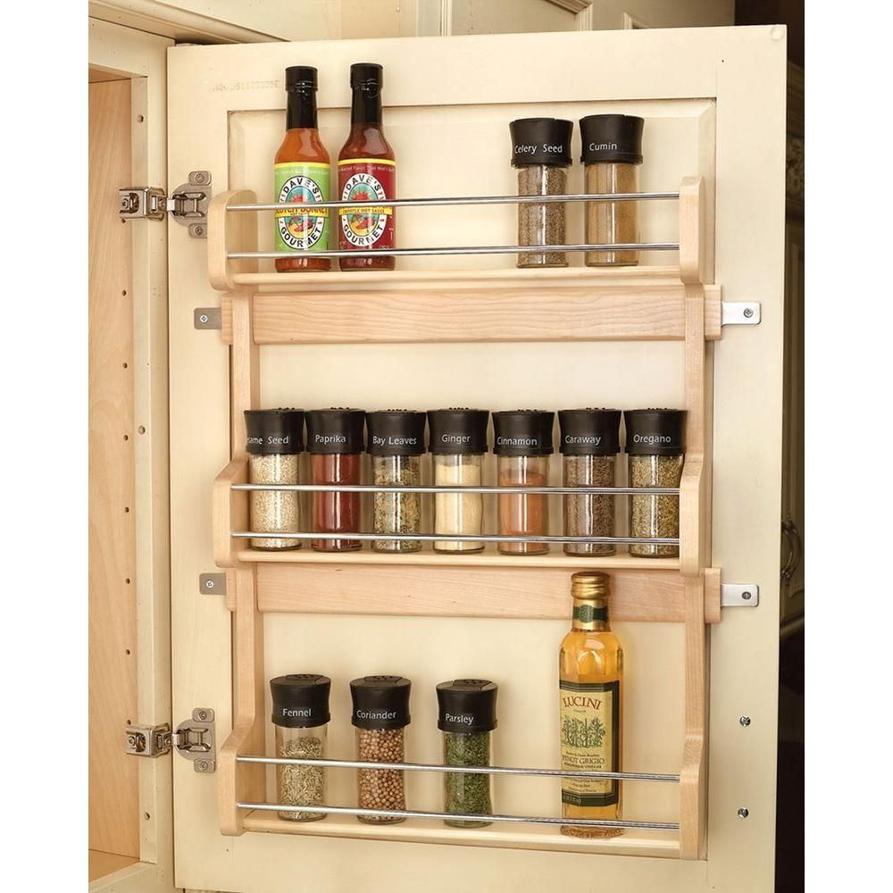modern cabinet and drawer organizers by Cabinet Parts - Door Mounted Spice Rack  sc 1 st  Pinterest & Kitchen Cabinet Door Spice Holder   Kitchen Cabinets   Pinterest ...