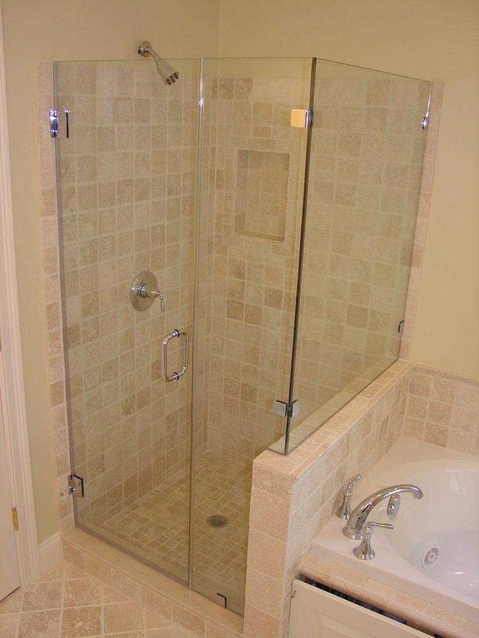Bathroommiraculous White Porcelain Bathtub Beside Single Frameless