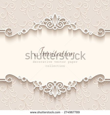 Vintage vector background with paper border decoration, divider - paper border designs templates
