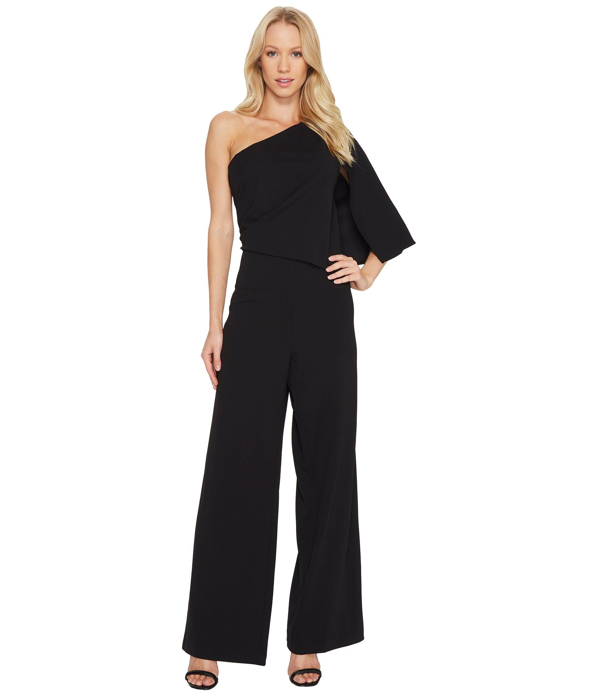 a04ff45b0320 ADRIANNA PAPELL Knit Crepe One-Shoulder Jumpsuit. #adriannapapell #cloth #