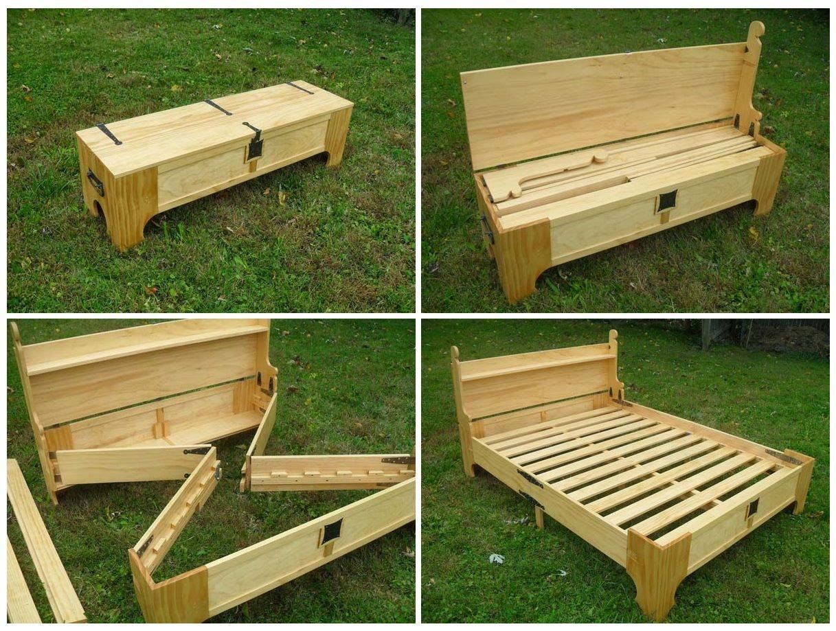 Single pallet bed frame - Awesome Guest Bed Just Throw An Air Bed On It So You Aren T On The Ground