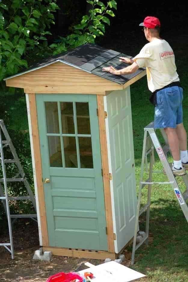 Shed DIY - Storage Shed Made Out Of Doors | These storage shed ideas ...