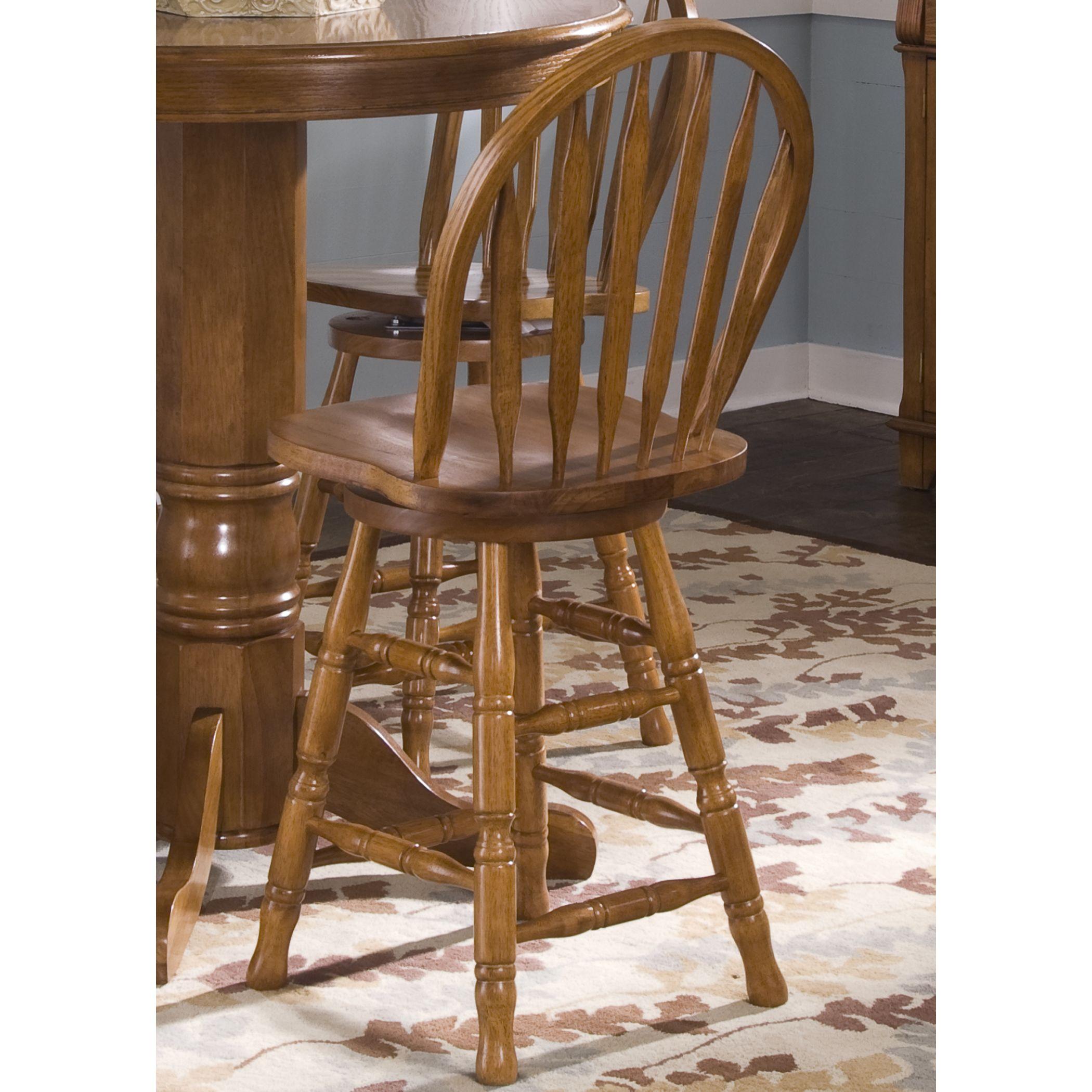 Astonishing Liberty Nostalgia Traditional Oak Arrow Back Swivel Barstool Inzonedesignstudio Interior Chair Design Inzonedesignstudiocom