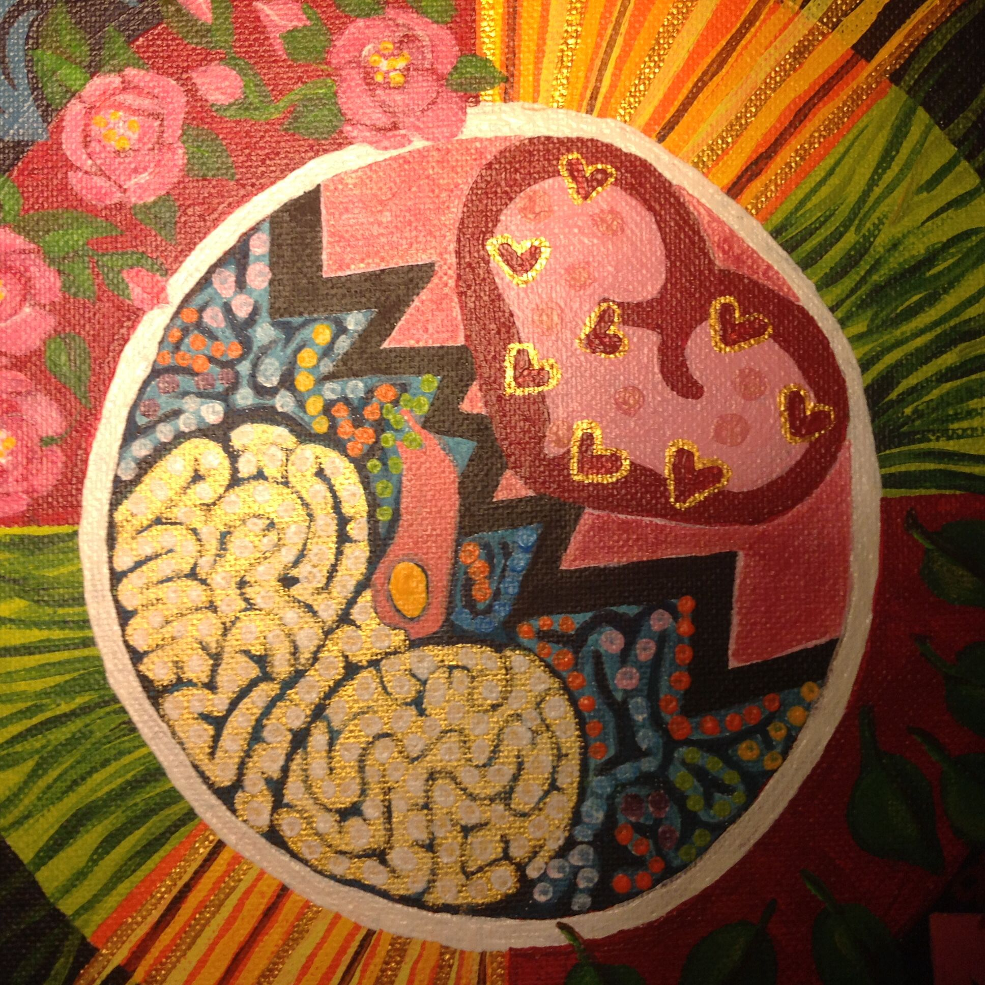 Heart and brain. A painting by me.