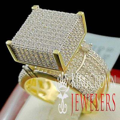 La s women s big bold yellow gold plated engagement wedding ring