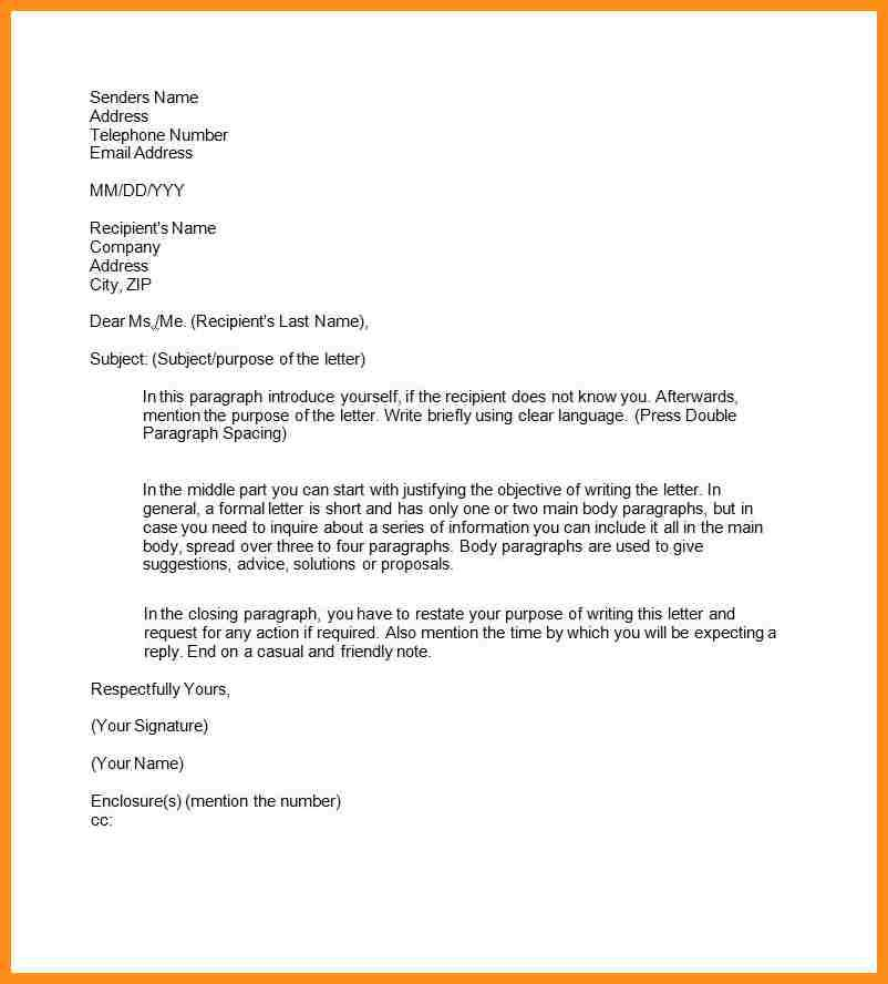 10 Examples Of Semi Formal Letters Parts Resume LETTERS - contents of a cover letter