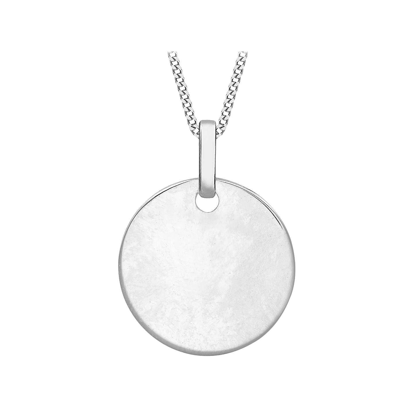 Melissa odabash crystal disc pendant necklace silver melissa buyibb personalised 9ct gold disc initial pendant necklace white gold online at johnlewis aloadofball Images