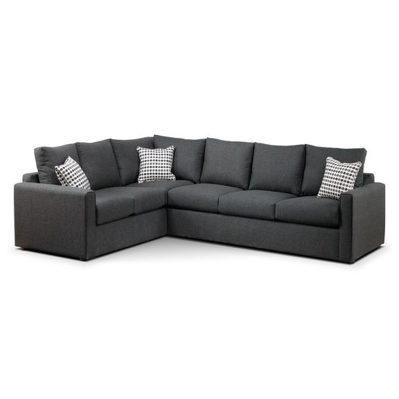 Unique Athina 2 Piece Sectional with Right Facing Queen Sofa Bed Charcoal For Your Home - Fresh sofa bed sectionals Unique