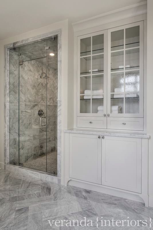 Shower Built In Linen Closet Master Suite Bathroom Bathroom