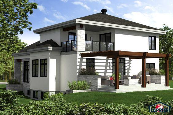 Designer, Zen / Contemporain LAP0528 Maison Laprise - Maisons - Modeles De Maisons Modernes