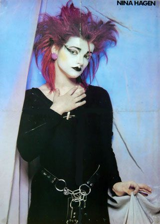 Nina 1979/1980 Goth/Punk Nina hagen, Punk mädchen und