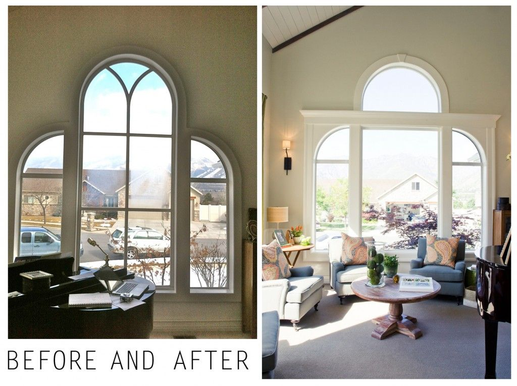 Amazing Update The Difference Between The Before After Is Trim Moulding Wallboard Painted Trim Color To Read As Part Home Wall Paneling Front Room