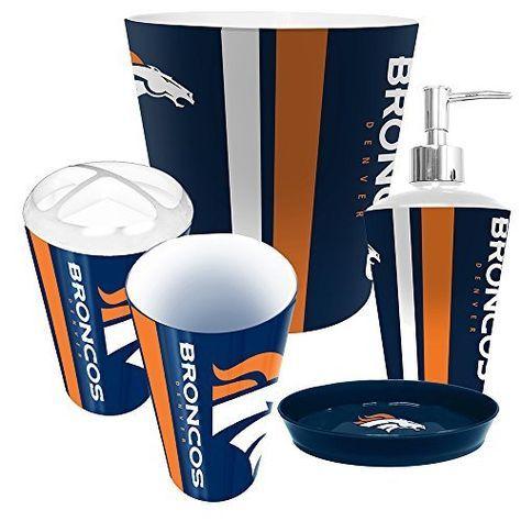 Denver Broncos NFL Complete Bathroom Accessories 5pc Set ...