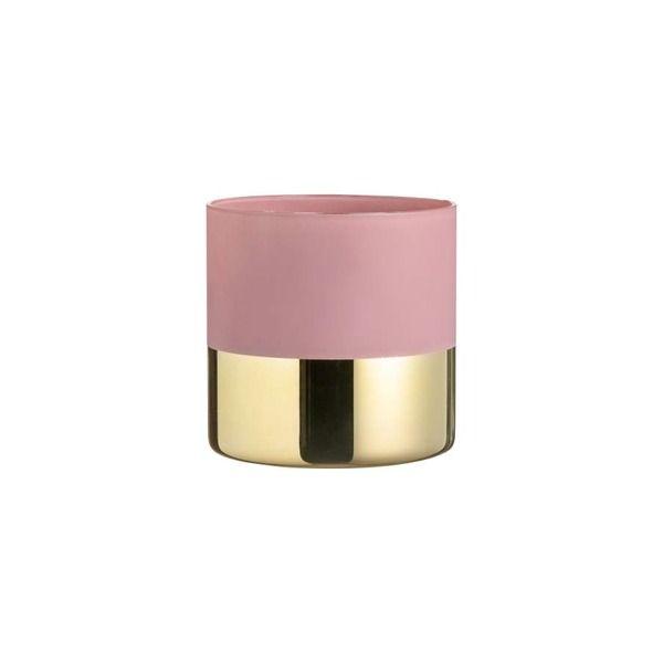Wohnzimmer Farbe Gold: Kleiner Glasblumentopf