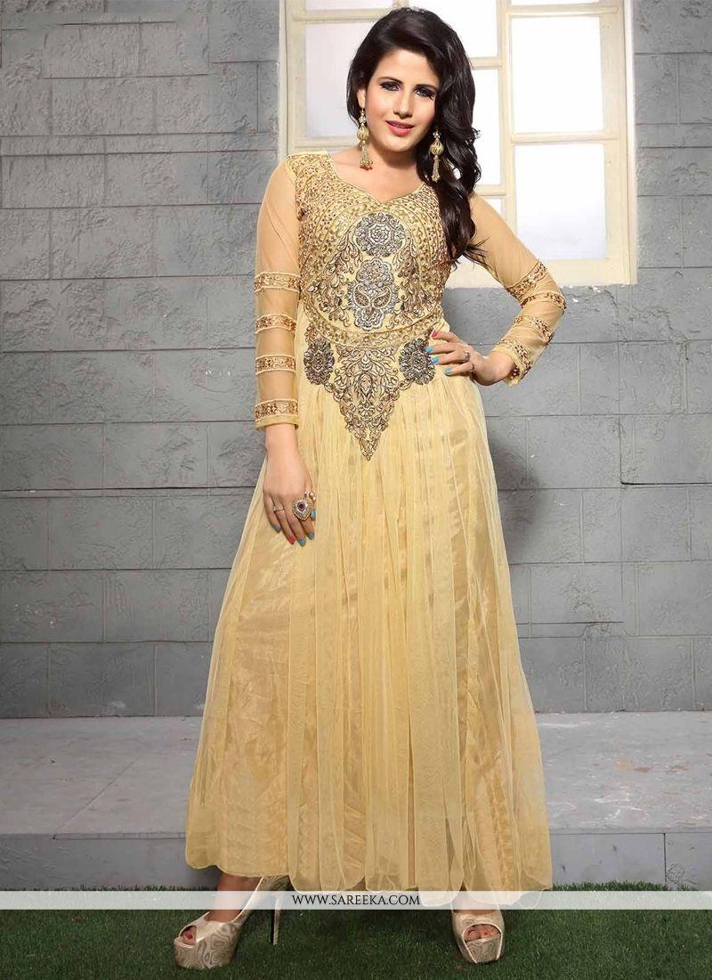 Embroidered work designer gown pinterest designer gowns gowns