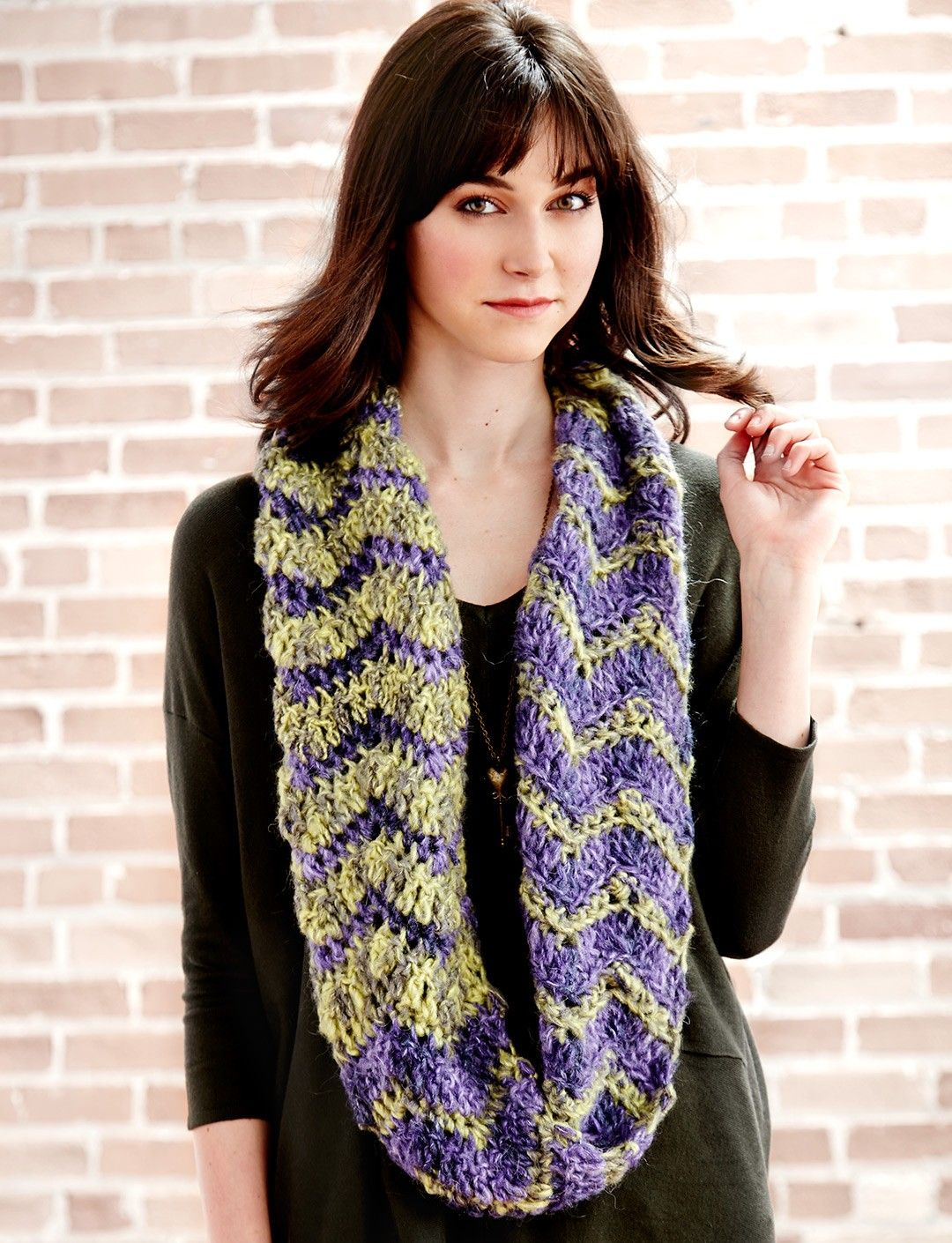 Yarnspirations.com - Patons Yin Yang Double Cowl - Patterns ...