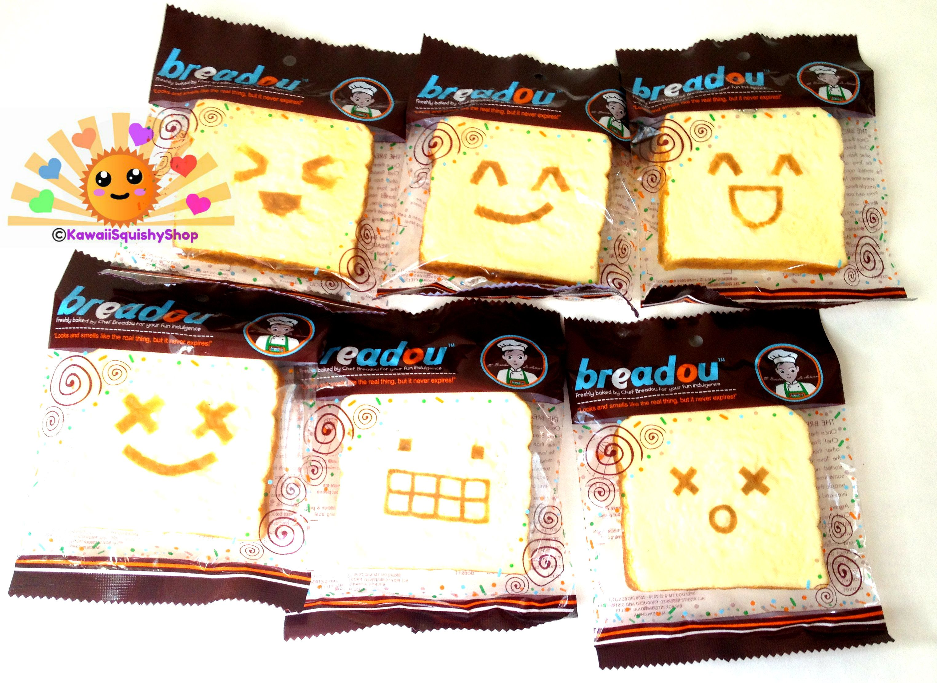 squishy breadou u00ae roti toast bread accessories keychain  so adorable and squishy  come is six