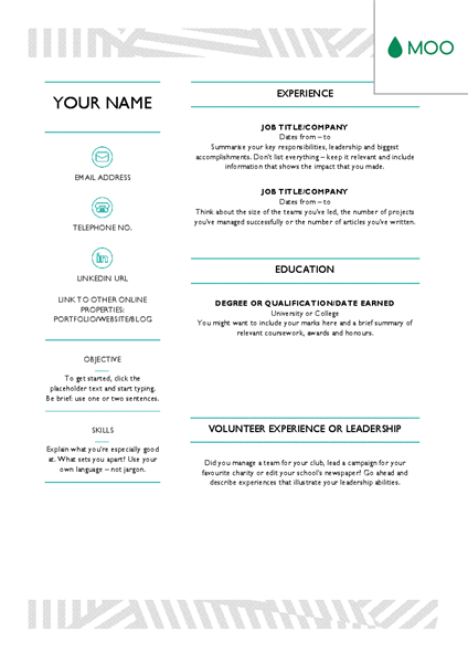 Creative Cv Designed By Moo Creative Cv Cv Design Creative Office Templates