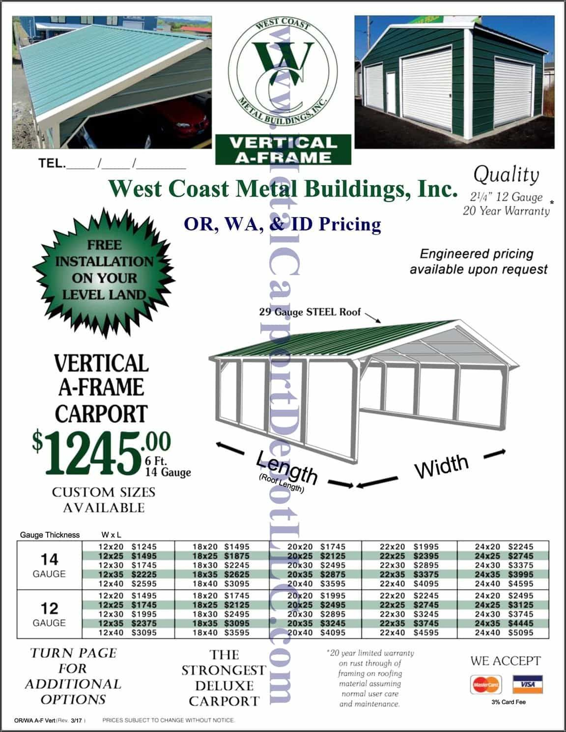 Metal Carport Buildings Ca Nv Or Pricing Metal Carports Carport Metal Buildings