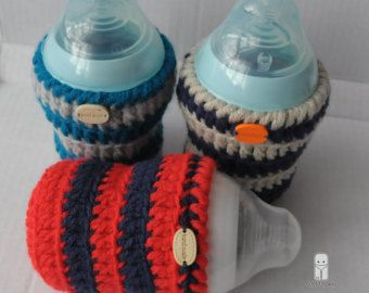 hand crochet baby bottle cover tommee tippee Dr brown MAM