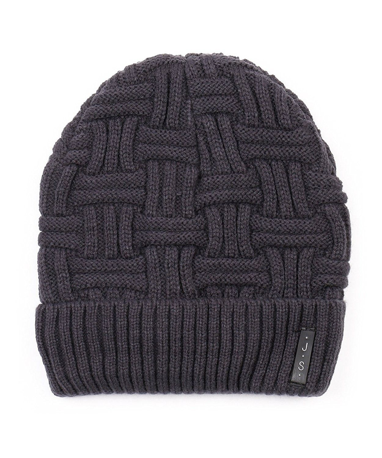 3b0fcfb50 Trendy Warm Ribbed Beanie Thick Slouchy Stretch Cable Knit Hat Soft ...