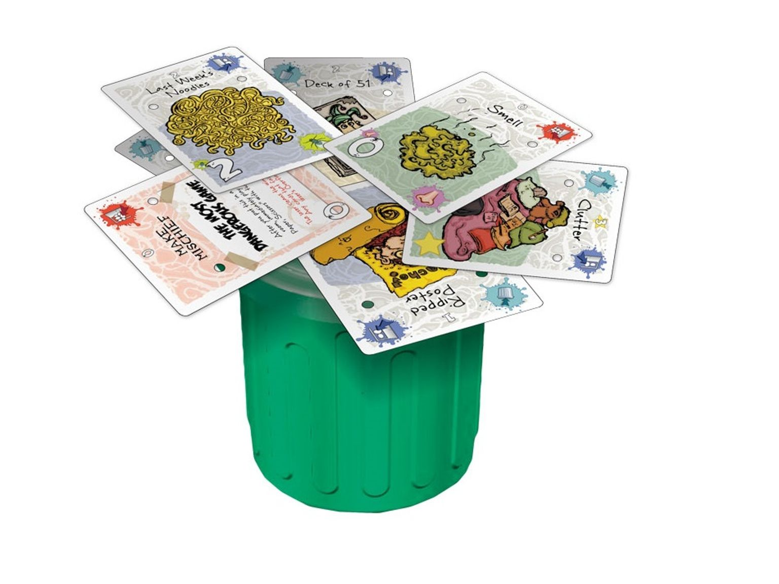 Garbage day 25 player 20 minute dexterity card game