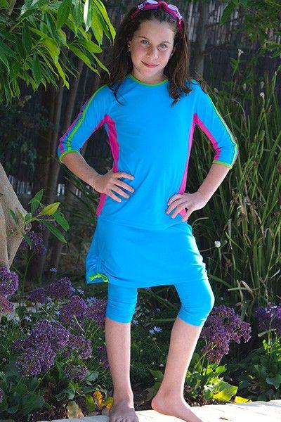 4a48acb274 Girls Swim Shirt & Swim Skirt Set with UPF 50, $76. | Girls UV ...