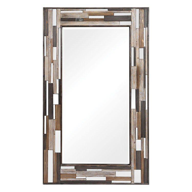 Zevon Wooden Wall Mirror By Grace Feyock Wooden Mirror Mirror Uttermost Mirrors