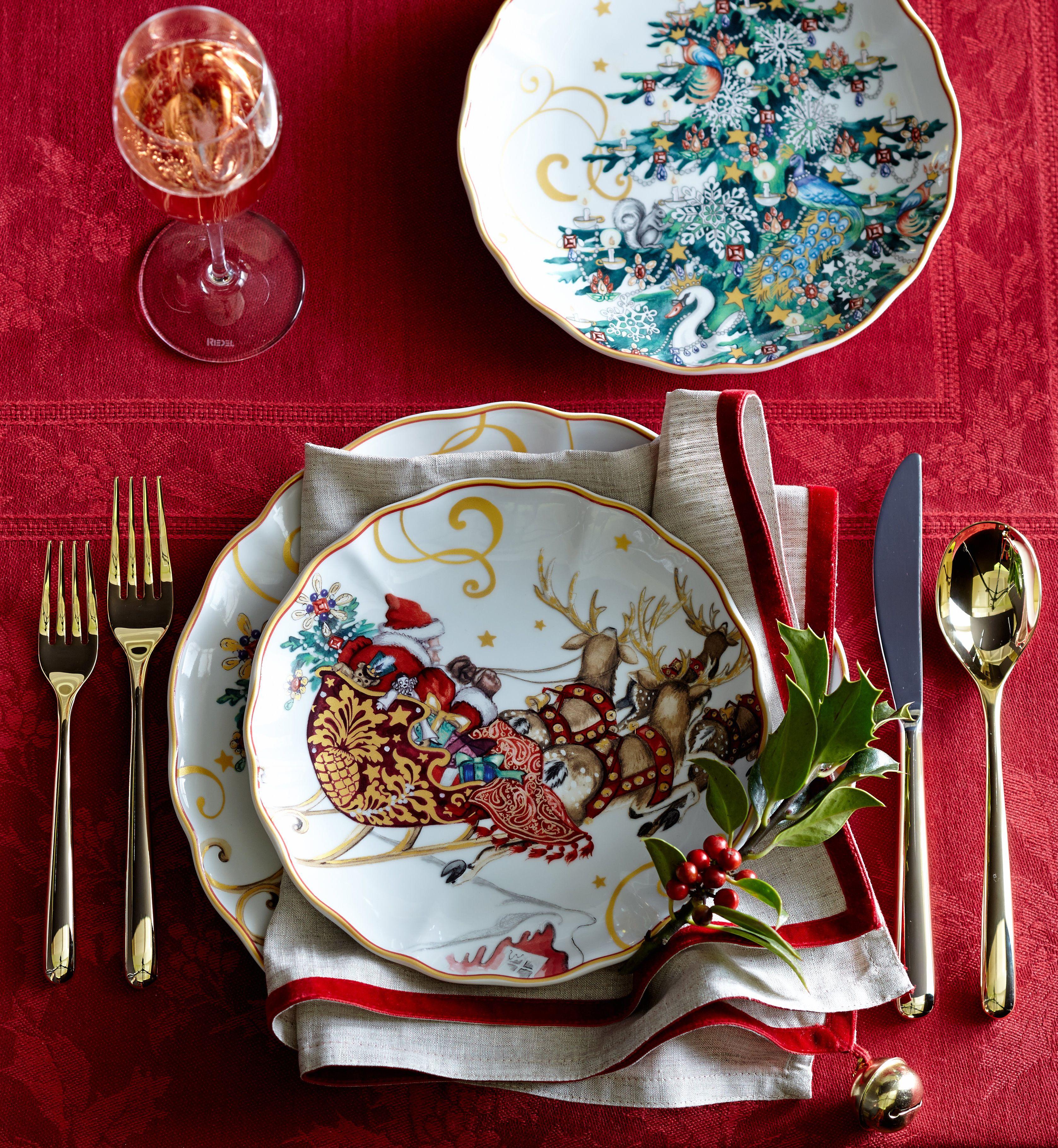 La coupole wood bordeux oak swatch mesas navidenas pinterest navidad vajilla de navidad y - Vajillas navidenas ...