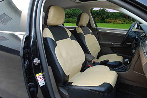115306 Blacktanleather Like 2 Front Car Seat Covers Compatible To Chevrolet Spark Suburban Tahoe Volt 20172007 With Images Leather Car Seat Covers Car Seats Carseat Cover