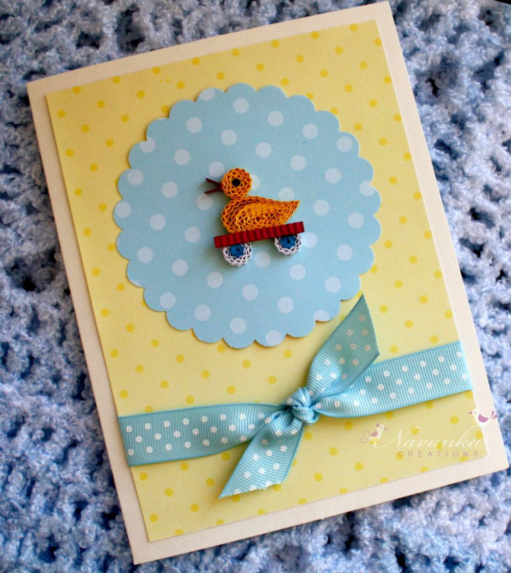handmade baby shower cards Baby Shower card Baby boy