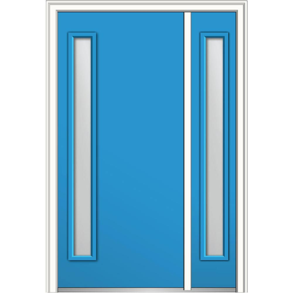 MMI Door 48 in. x 80 in. Clear Low-E Glass Right-Hand 1-Lite Modern ...