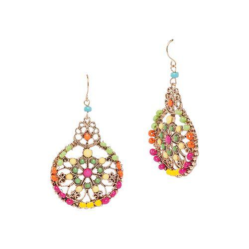 Carol Dauplaise Beaded Filigree Earrings