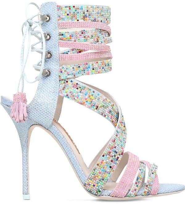 Bridal Shoes Selfridges: Embellished Heeled Sandals, Lace Up High Heels