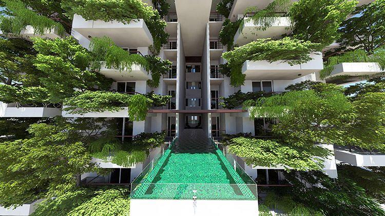 Giardino verticale _ Questo 46-piano Superficie grattacielo è coperto in una foresta | Co.Exist