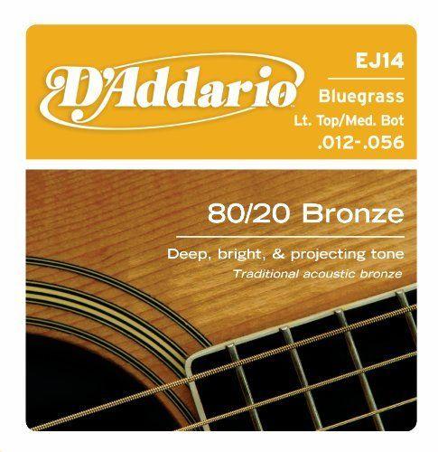 D Addario Ej14 80 20 Bronze Acoustic Guitar Strings Light Top Medium Bottom Bluegrass 12 56 By D Addario 4 99 From The Manufacturer Ej1 Sobre