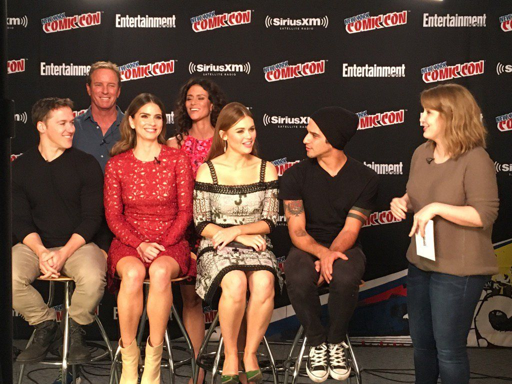Shelley Hennig with cast in BR