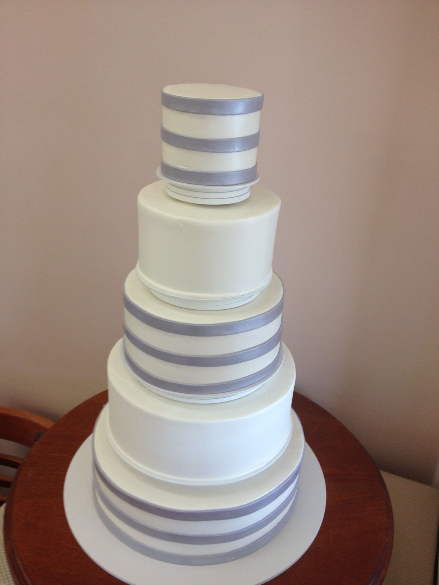 Silver stripes by beaverton bakery wedding cakes pinterest