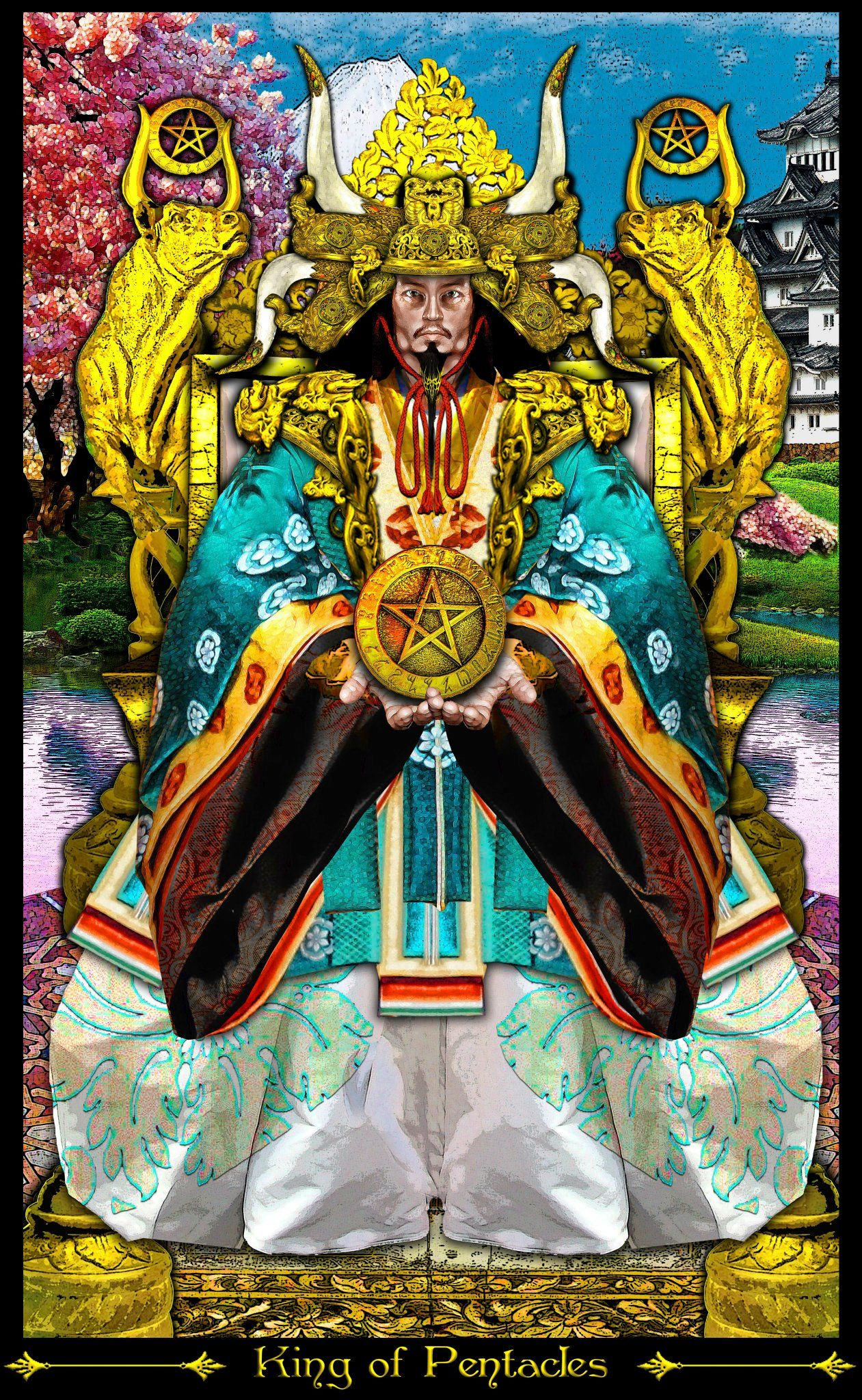 Tarot D The Didactic Tarot By Jeffrey M Donato: Roi D'écus (1) - Tarot Illuminati Par Erik Dunne
