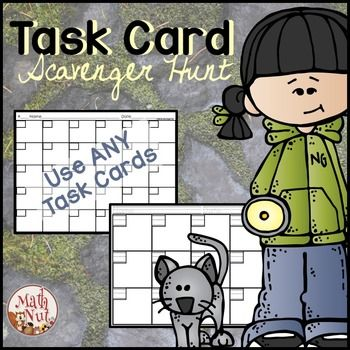 Task Cards!Task Card Scavenger Hunt is an engaging activity that may